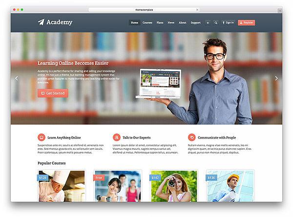Academy szablon LMS kursy online do WordPressa