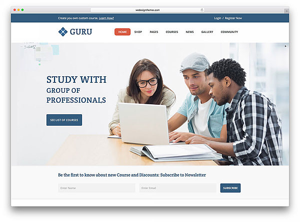 Guru - szablon LMS kursy online do WordPressa