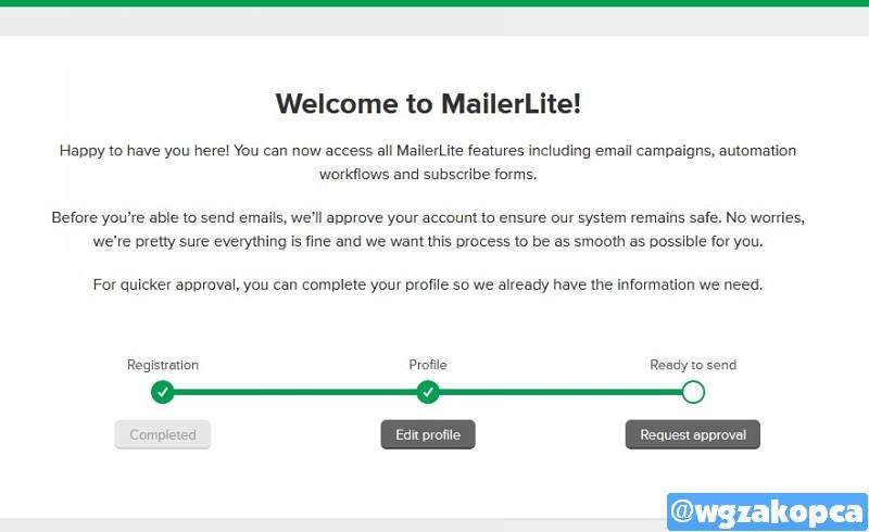 MailerLite - rejestracja konta