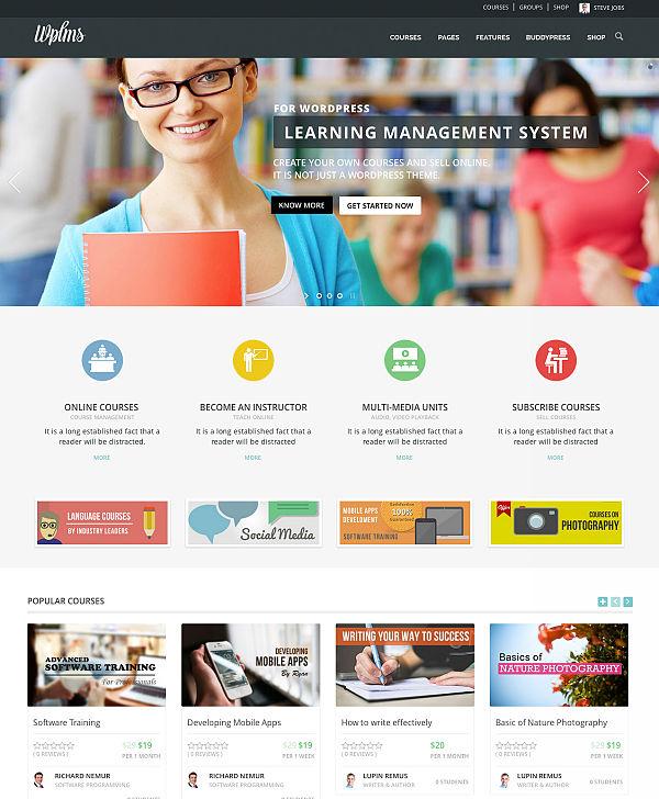 WPLMS - szablon do kursów online w WordPress