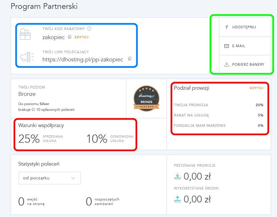 Program Partnerski dhosting.pl